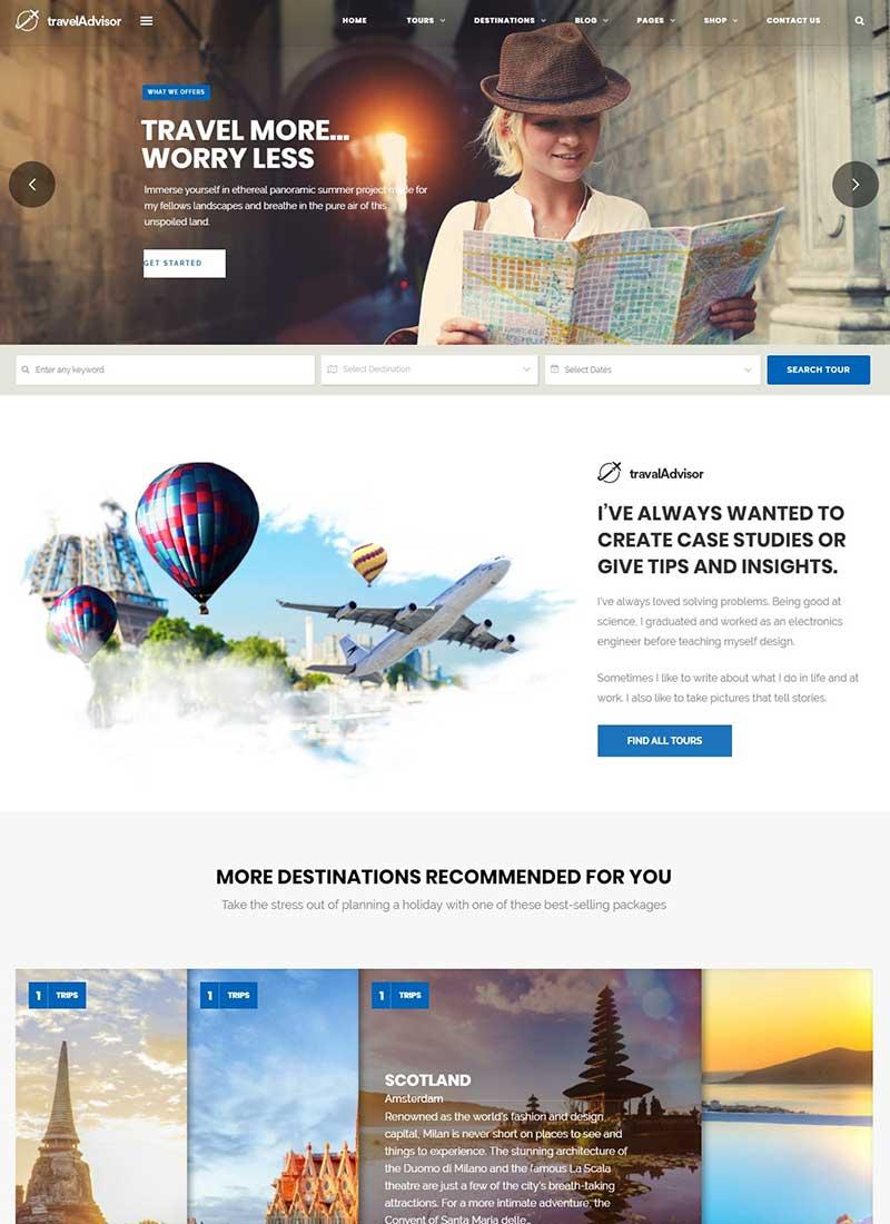 Mẫu Website du lịch TravelAdvisor