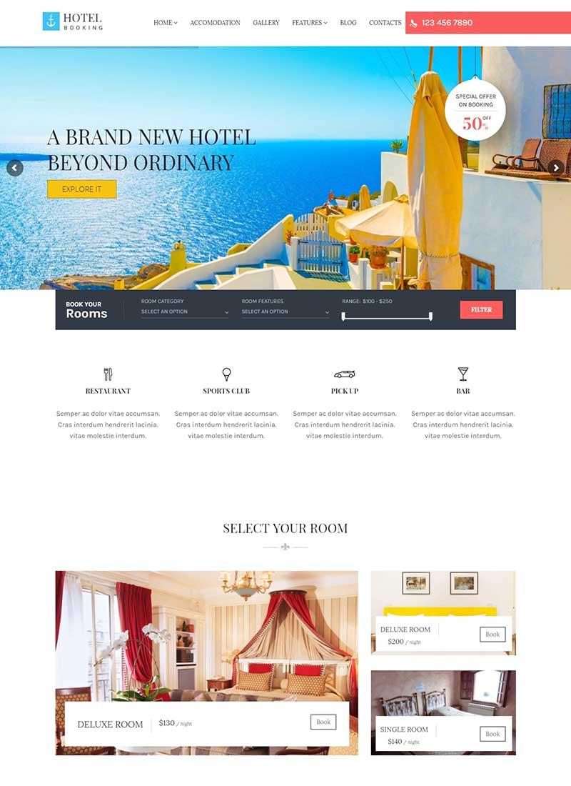 Mẫu Website Khách sạn HotelBooking