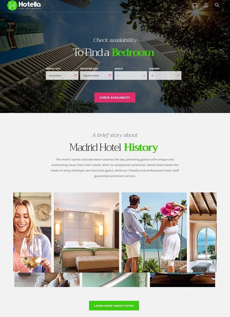 Mẫu Website khách sạn Hotella