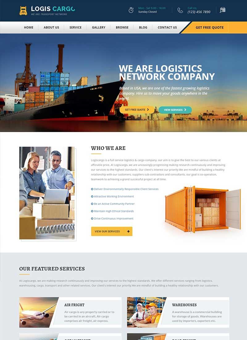 Mẫu Website Vận tải Logis Cargo