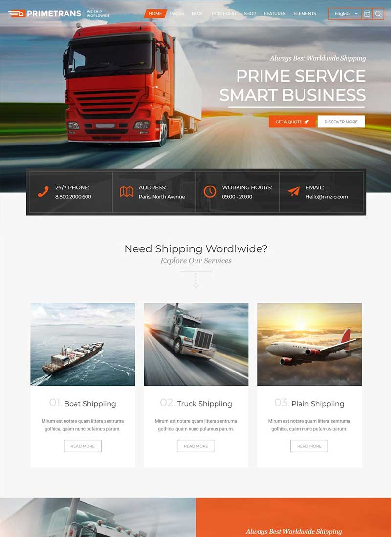 Thiết kế Website Vận tải - Logistic