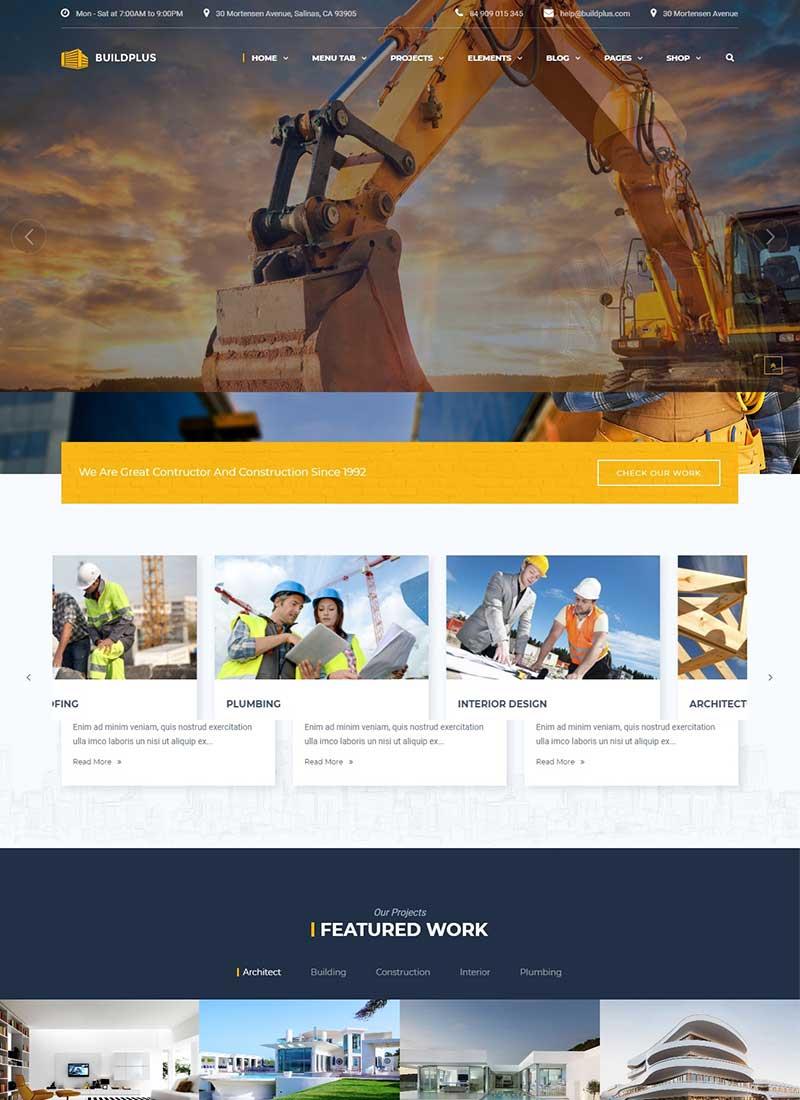 Thiết kế Website Xây dựng Đẹp chuyên nghiệp
