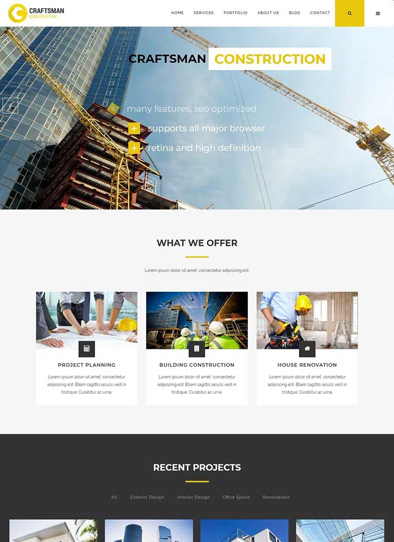 Mẫu Website Xây Dựng Craftman