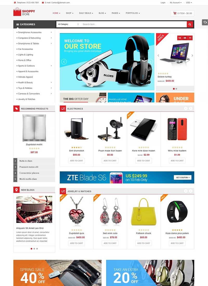 Mẫu Website bán hàng công nghệ Shoppy