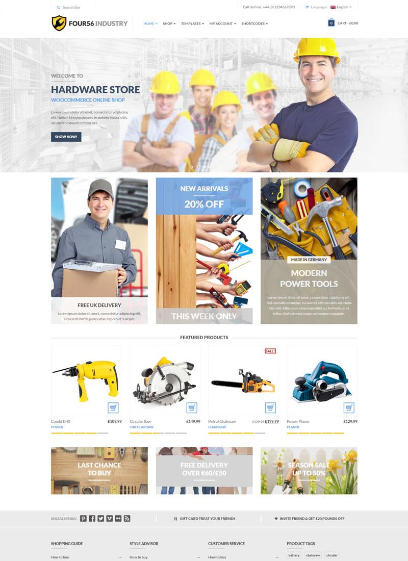 Mẫu Website bán hàng cơ khí 456Industry