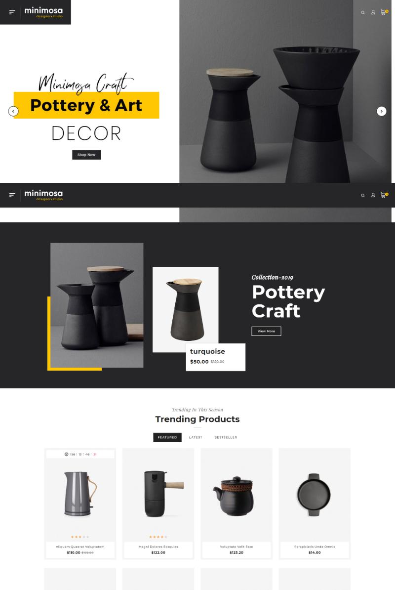 Mẫu Website gốm sứ Minimosa