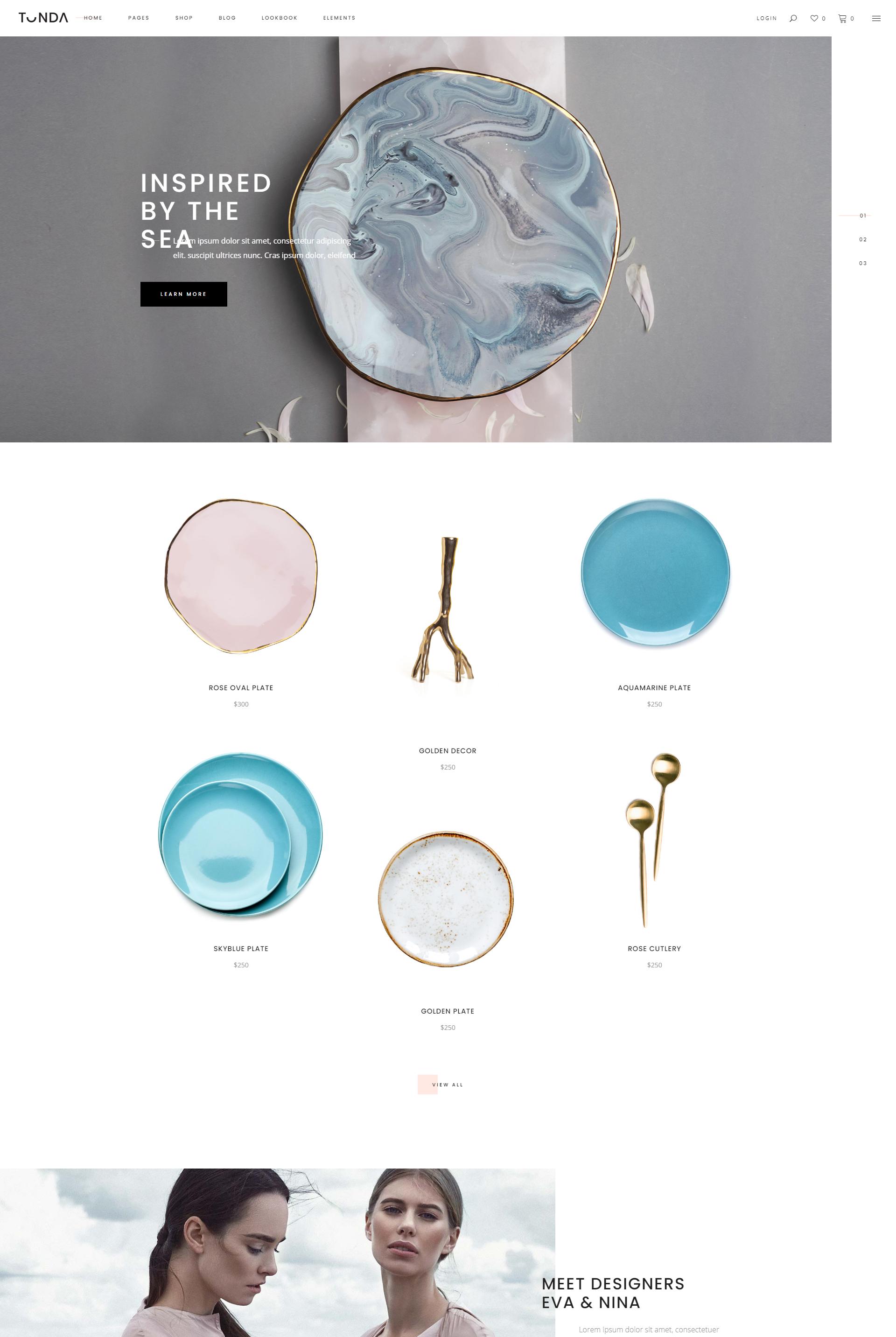 Mẫu Website bán hàng Gốm sứ Tonda