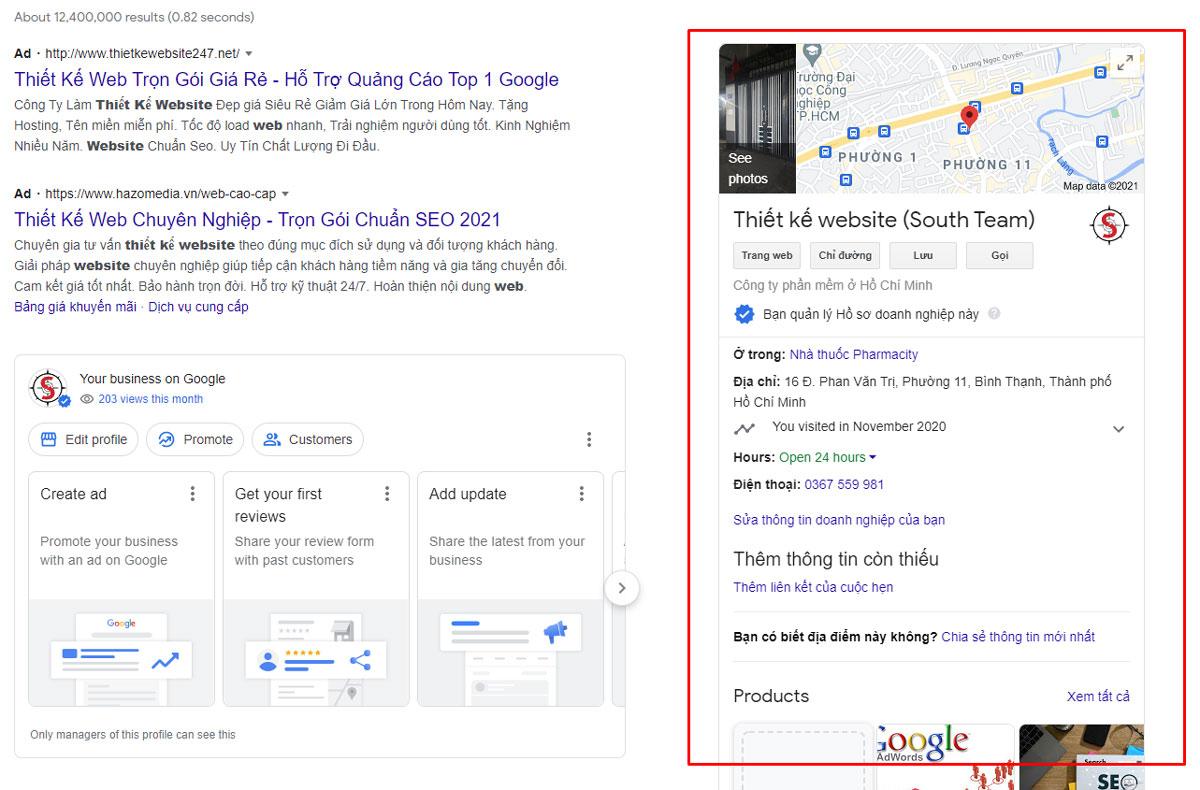 Dịch vụ SEO Google Map ở vị trí nổi bật